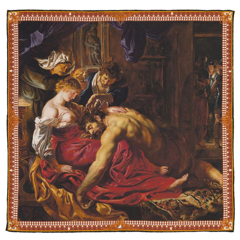 Samson and Delilah Silk Pocket Square, The National Gallery - CultureLabel - 1