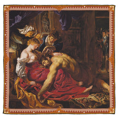 Samson and Delilah Silk Pocket Square, The National Gallery