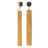 Lapis and Gold Plated Tassel Earrings, The National Gallery