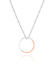 Two Tone Circle Necklace in Rose Gold or Yellow Gold, Myia Bonner