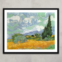 Wheatfield with Cypresses, Vincent Van Gogh