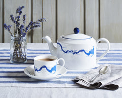 Thames Tea Set in Blue, Snowden Flood