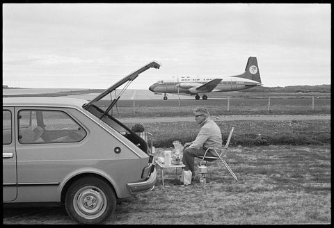 Couple Picknicking Next to Sumburgh Airport, Tom Kidd - CultureLabel