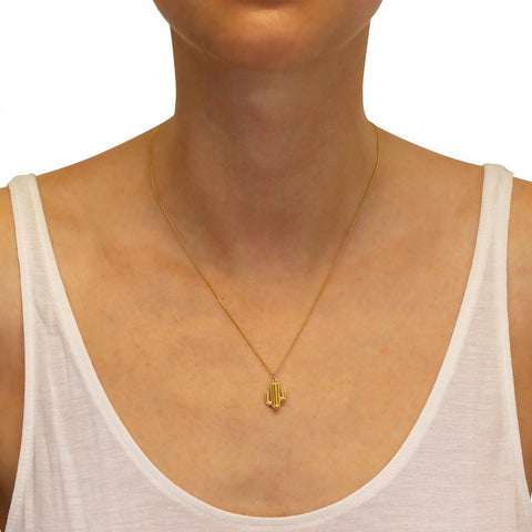 Cactus Necklace Gold, Lee Renée - CultureLabel - 1