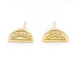 Sami Sun & Moon Half Circle earrings, No 13