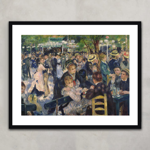Ball at the Moulin de la Galette, Pierre Auguste Renoir