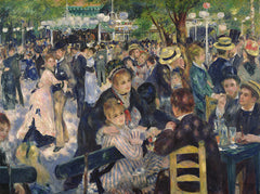 Ball at the Moulin de la Galette, Pierre Auguste Renoir Alternate View