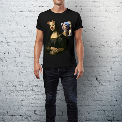 CultureLabel Collective: Mona Lisa & The Girl With The Pearl T-Shirt Alternate View