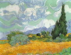 Wheatfield with Cypresses, Vincent Van Gogh Alternate View