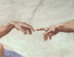 Detail from The Creation of Adam, Michelangelo Buonarroti Alternate View