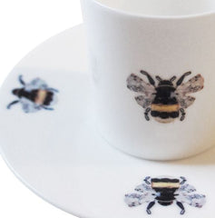 Bumble Bees Fine Bone China Espresso Cup and Saucer, Kim Sera Alternate View