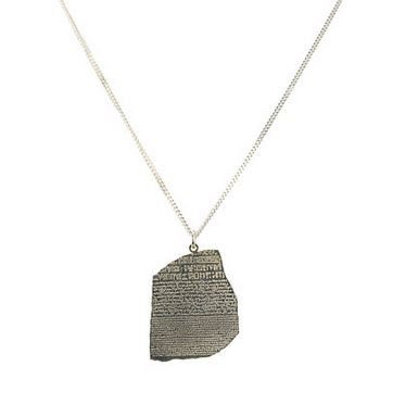 Rosetta Stone Silver Necklace, British Museum Alternate View