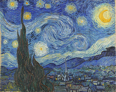 The Starry Night, Vincent Van Gogh Alternate View