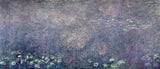 Waterlilies: Two Weeping Willows, centre left section, Claude Monet