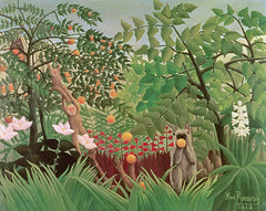 Exotic Landscape, Henri J.F. Rousseau Alternate View