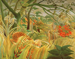 Tiger in a Tropical Storm (Surprised!), Henri J.F. Rousseau Alternate View