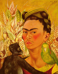 Self Portrait with Monkey and Parrot, Frida Kahlo Alternate View