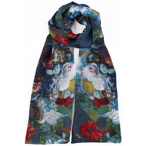 Flower Still Life Silk Scarf, Jan van Huysum - CultureLabel