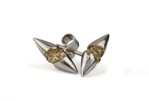 Silver & Gold Thorn Earrings, Ros Millar