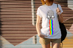 CultureLabel Collective: Trepanned Skull (Rainbow) T-Shirt (White) Alternate View