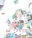 Money Map of the World, Justine Smith - CultureLabel - 2