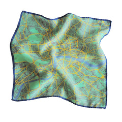 London in Pantone Silk Handkerchief, Insitucity Alternate View