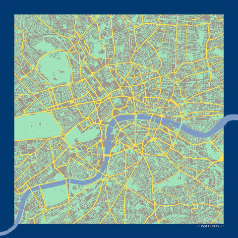 London in Pantone Silk Handkerchief, Insitucity - CultureLabel - 1