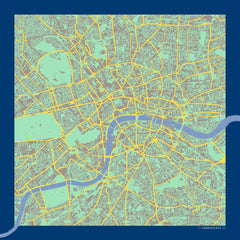 London in Pantone Silk Handkerchief, Insitucity