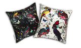 4 Lear Parrots Cushion silk, Kristjana S Williams