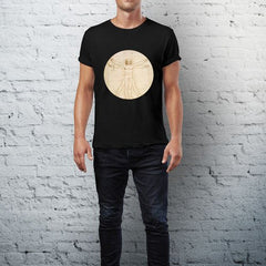 Leonardo Da Vinci: The Proportions Of The Human Figure (detail) T-Shirt Alternate View