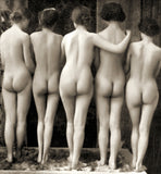 Female Nude Quintet, c.1900, Bridgeman Images