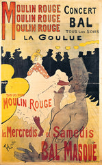 Poster advertising 'La Goulue' at the Moulin Rouge 1893, Henri de Toulouse-Lautrec Alternate View