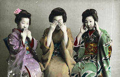 Speak No Evil, See No Evil, Hear No Evil c. 1880, Japanese School Alternate View