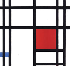 Composition with Yellow, Blue and Reds, Piet Mondrian Alternate View
