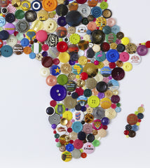 Handmade Button Map of Africa, Hello Geronimo Alternate View