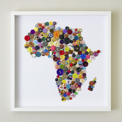 Handmade Button Map of Africa, Hello Geronimo