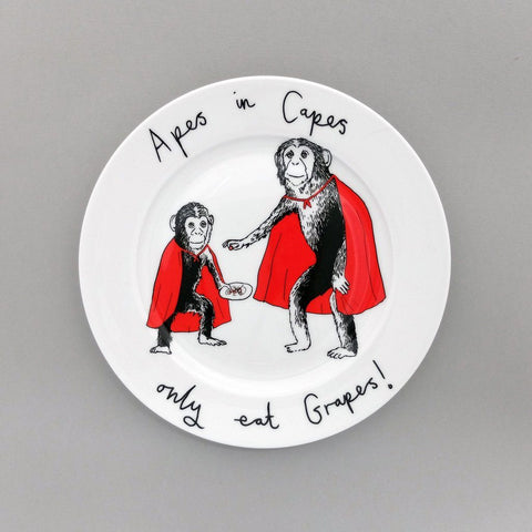 Apes In Capes Side Plate, Jimbobart - CultureLabel - 1