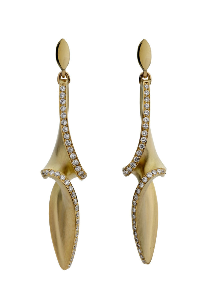 Arabesque Diamond Drop Earrings, Jessica Poole - CultureLabel - 1