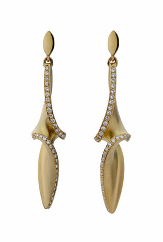 Arabesque Diamond Drop Earrings, Jessica Poole Alternate View