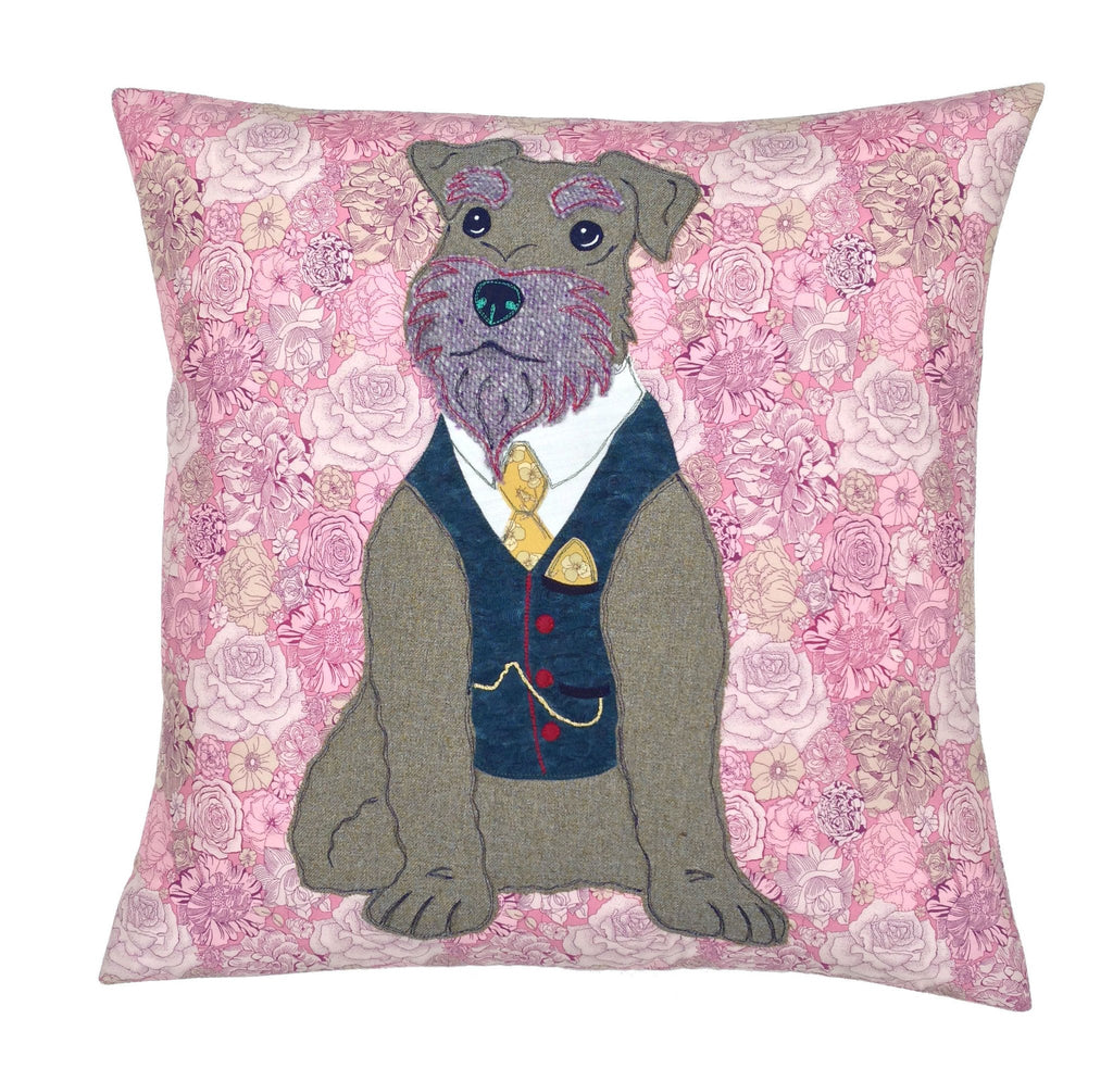 Liberty London Arthur Schnauzer Cushion, Mia Loves Jay - CultureLabel