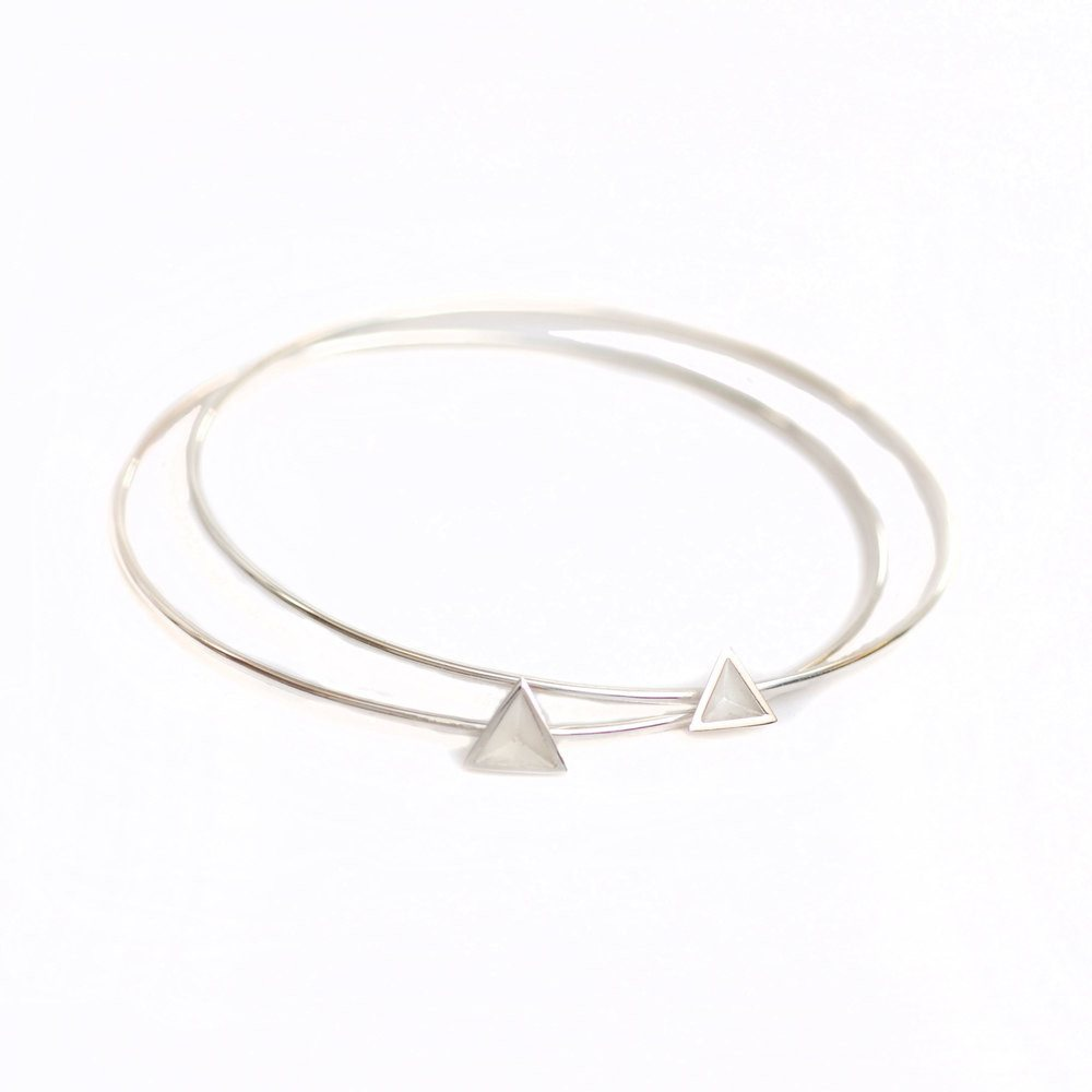 Skinny Pyramid Bangle, Stephanie Ray - CultureLabel - 1 (Two Bangles)