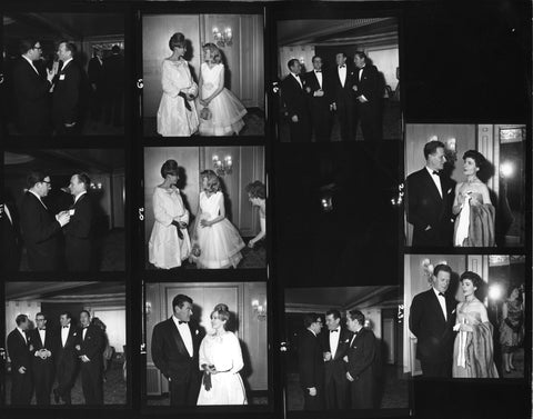 Contact sheet from the British Academy Film Awards in 1960, BAFTA