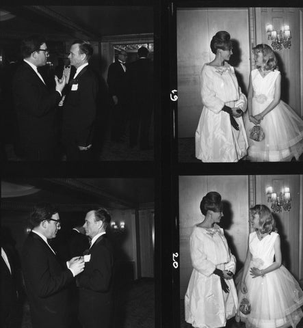 Contact sheet from the British Academy Film Awards in 1960, BAFTA Alternate View