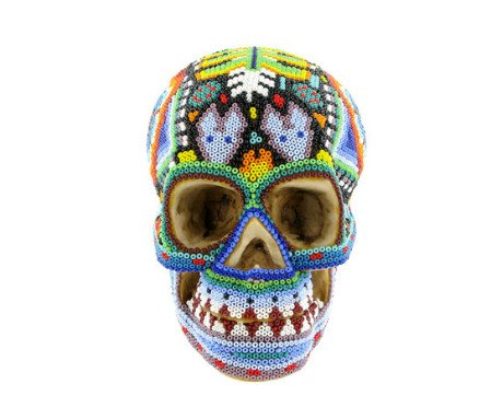 Huichol Indian Art Skull, The British Museum - CultureLabel