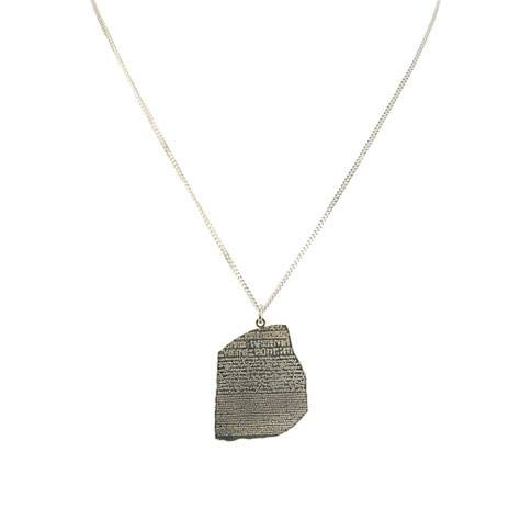 Rosetta Stone Silver Necklace, British Museum
