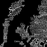 Great British Type Map, Run For The Hills - CultureLabel - 7 (black; close up)