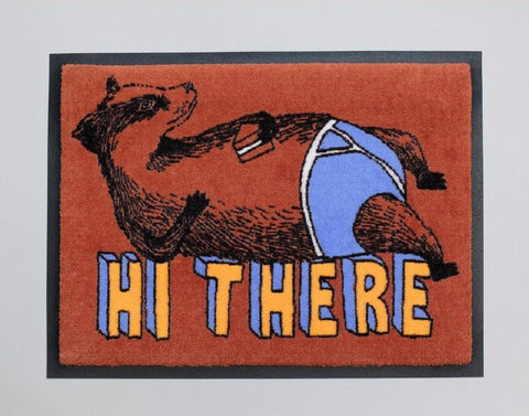 Hi There Badger Welcome Doormat, Jimbobart