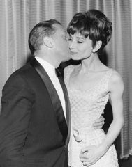 Richard Attenborough and Audrey Hepburn at the British Academy Film Awards, BAFTA