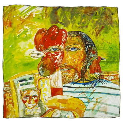 Self Portrait John Bellany Silk Scarf, National Galleries of Scotland - CultureLabel