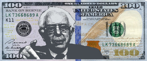 Bank on Bernie - Framed Bernie Sanders $100 Bill Alternate View